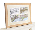 Personalised historical framed maps
