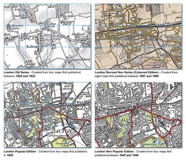 London Map Set Rolled Cassini Maps Shopping Cart - London map 1945