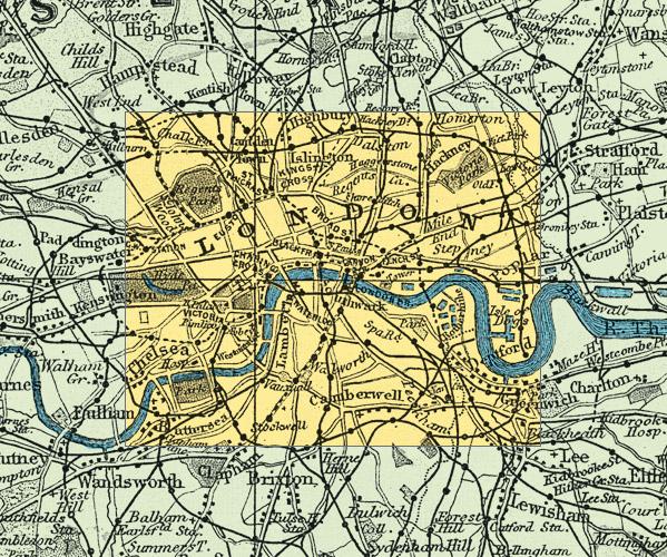 Street Map Of London Uk.Cassini Maps London Street Map 1891 Cassini Maps Shopping Cart