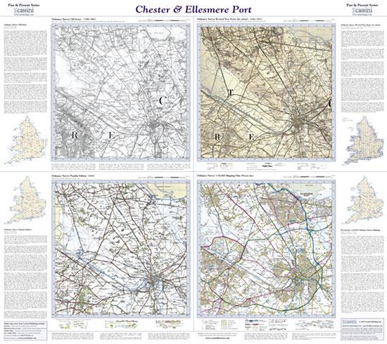 Past Present Chester Ellesmere Port Cassini Maps Shopping Cart