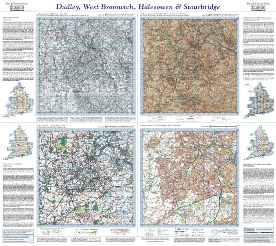 Cassini Maps Past Present Dudley West Bromwich Halesowen