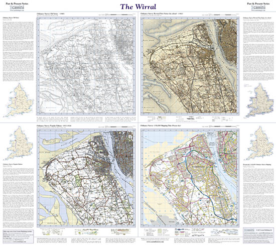 Past Present The Wirral Cassini Maps Shopping Cart