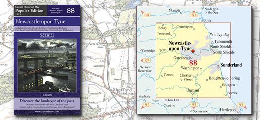 Cassini Maps Popular Edition 88 Newcastle Upon Tyne Cassini