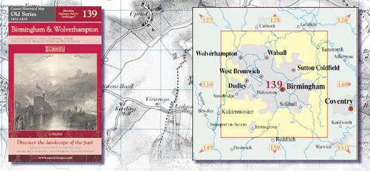 Cassini Maps Old Series 139 Birmingham Wolverhampton Cassini